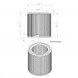 Atlas Copco 1030097999 alternative air filter