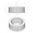 Mann & Hummel 4507554166 alternative air filter