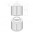 Mann & Hummel 4510054174 alternative air filter