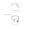 Aias 53501 alternative air filter housing