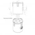 Leybold 95165 alternative air filter housing