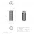Ceccato 2200003324 alternative in-line filter