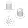 Atlas Copco 1613750200 alternative separator